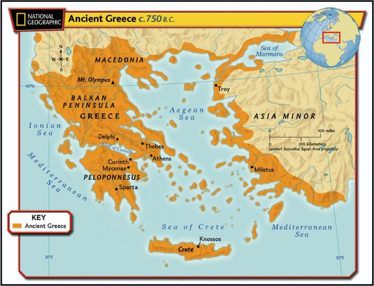 Mapa Starozytnej Grecji Starozytna Grecja Mapa Europa Poludniowa