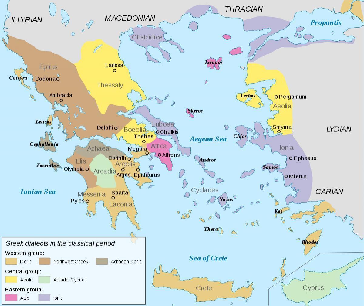 Starozytna Grecja Mapa Ionia Ionia Na Mapie Starozytnej Grecji
