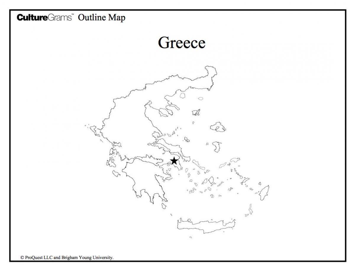 Starożytna Grecja Mapa Konturowa Mapa Konturowa Starożytnej Grecji