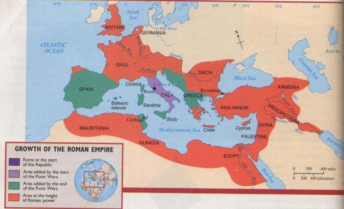 Starożytny Rzym I Grecja Mapa Starożytnego Rzymu I Grecji Europa Południowa Europa